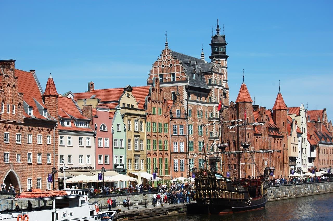 Gdansk arkitektur i gamla stan